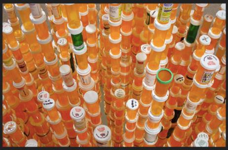 Mountains of Pill Bottles